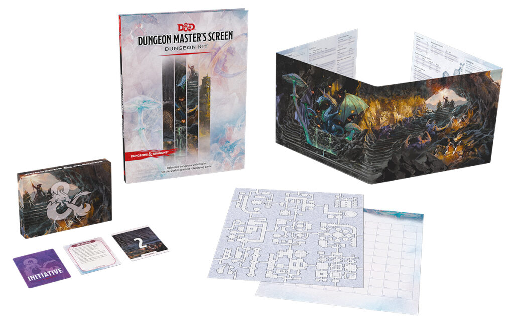 Dungeons & Dragons Dungeon Master's Screen Dungeon Kit contents