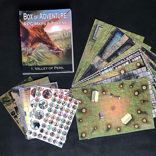 Box of Adventure: Valley of Peril contents