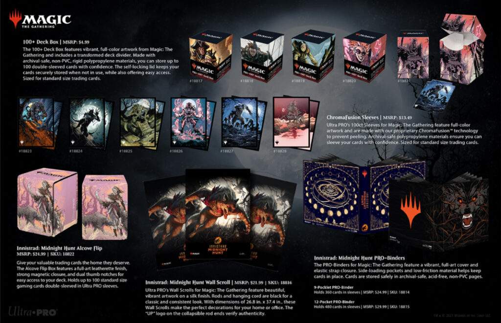 Midnight Hunt sleeves & deck boxes