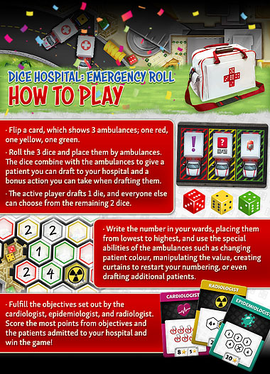 Dice Hospital: ER – Emergency Roll How to Play