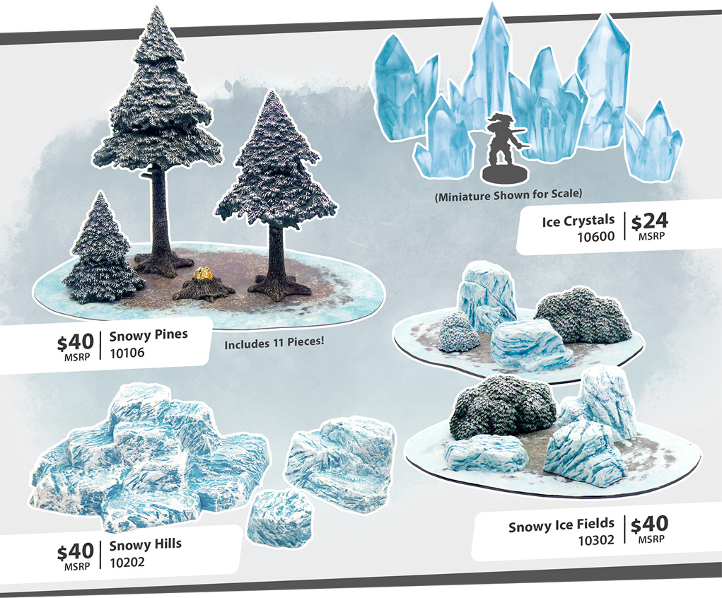 Winter & Ice Crystals Monster Scenery