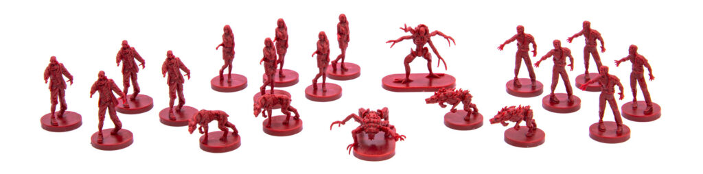 Resident Evil 3: The Board Game minis