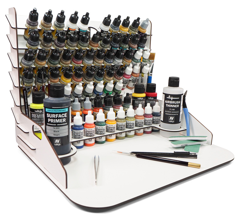 Paint Stand 40cm × 30cm with Vertical Storage full