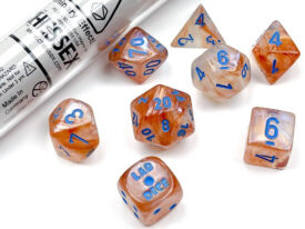 Borealis® Polyhedral Rose Gold/light blue Luminary™ 7-Die Set