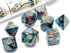 Lustrous® Polyhedral Alpestris/orange 7-Die Set