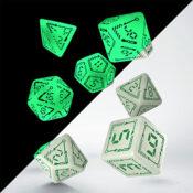 digital glowing dice