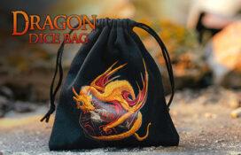 Black Dragon Dice Bag