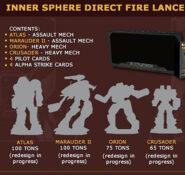 BattleTech Inner Sphere Direct Fire Lance