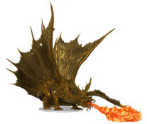 Adult Gold Dragon Premium Figure with breath weapon