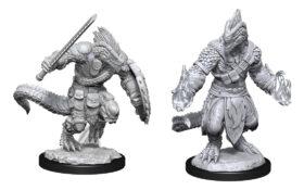 Lizardfolk Barbarian & Lizardfolk Cleric (WZK90308)